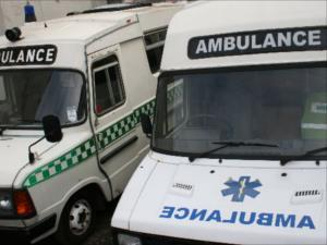 Two ambulances at the National Emergency Services Museum.