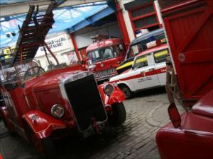 Just a few of the many vehicles at the National Emergency Services Museum.